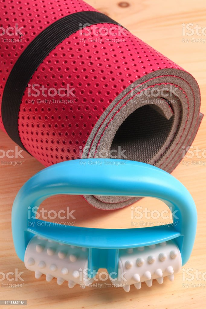 Set for the treatment of cellulite. Fitness foam roller, ideal for...