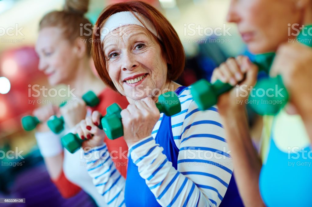 Fitness for seniors royalty-free stock photo