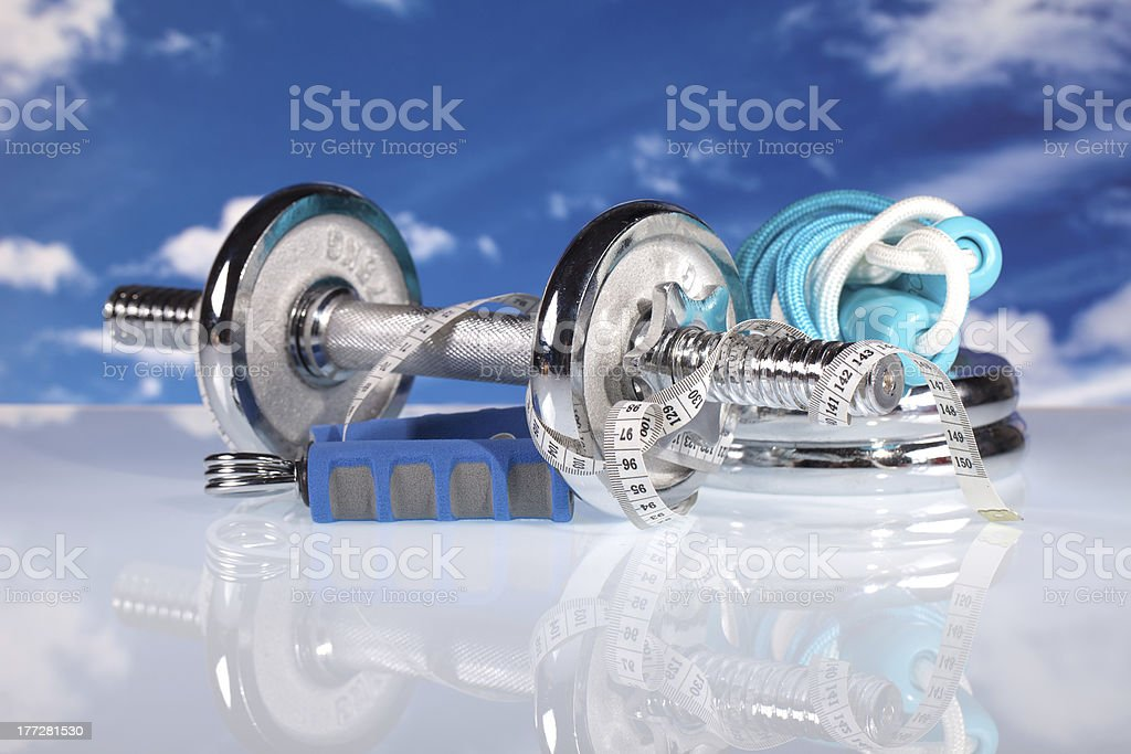 fitness gear stock photo