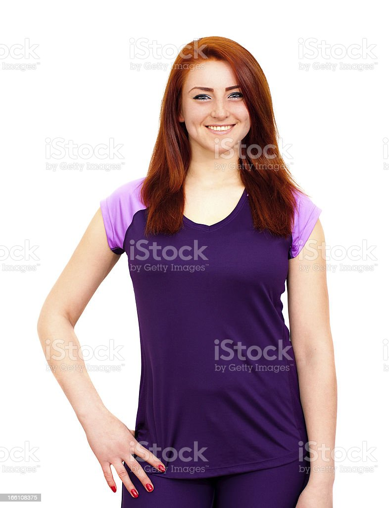 Fitness girl isolated royalty-free stock photo