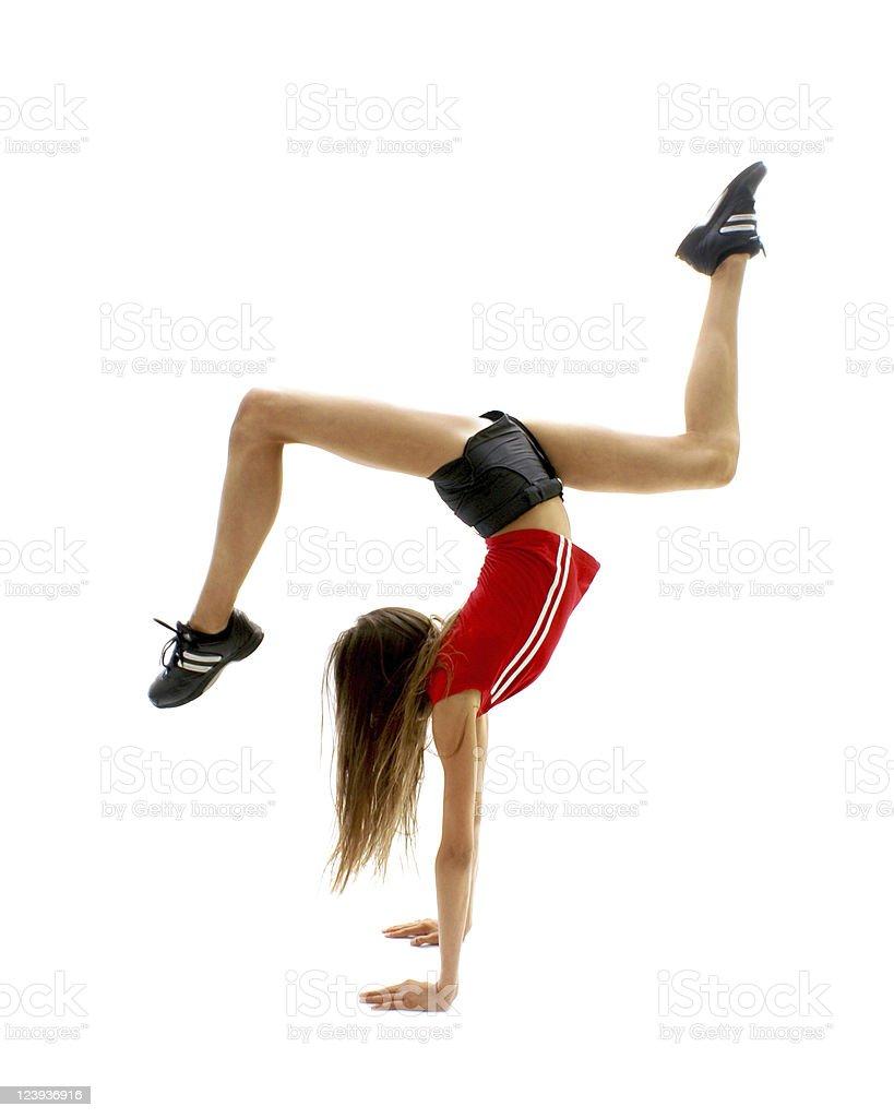 Fitness girl royalty-free stock photo
