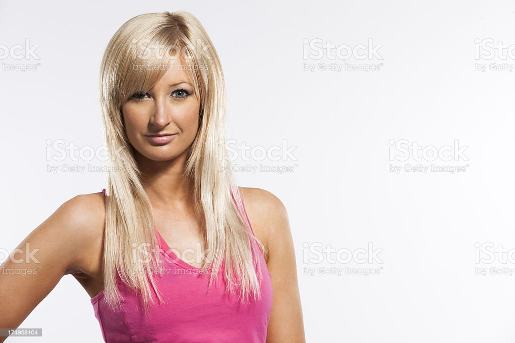 fitness girl portrait royalty-free stock photo