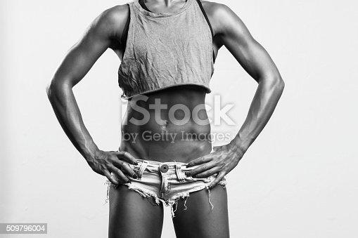 509796496istockphoto Fitness girl posing 509796004