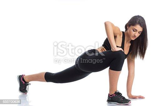 512749661 istock photo Fitness Girl Stretching 533700636