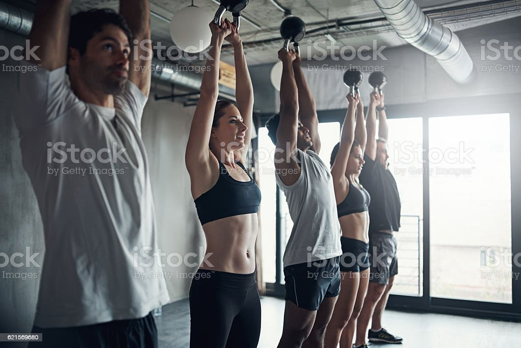 Fitness groups have a positive influence on your exercise habits photo libre de droits