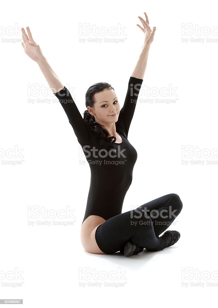 fitness in black leotard royalty-free stock photo