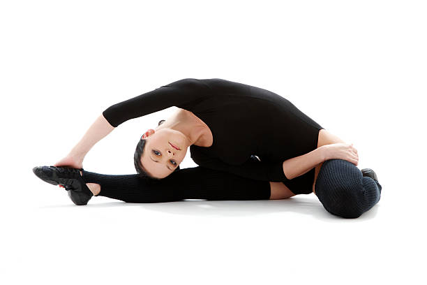 fitness in black leotard #3 - leotard stock pictures, royalty-free photos & images