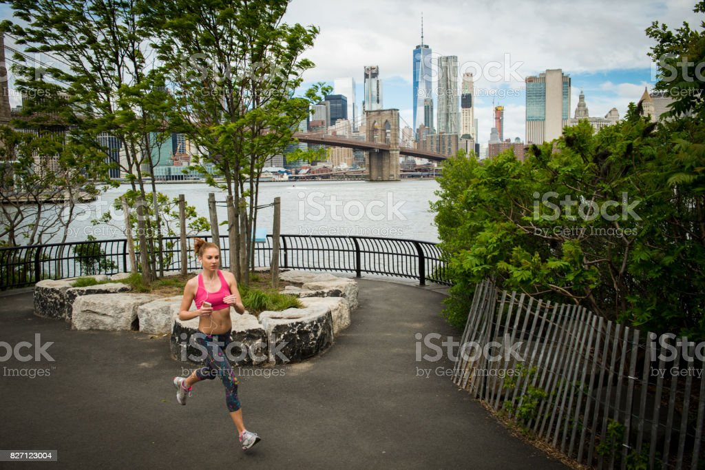 Fitness in the Big Apple stock photo