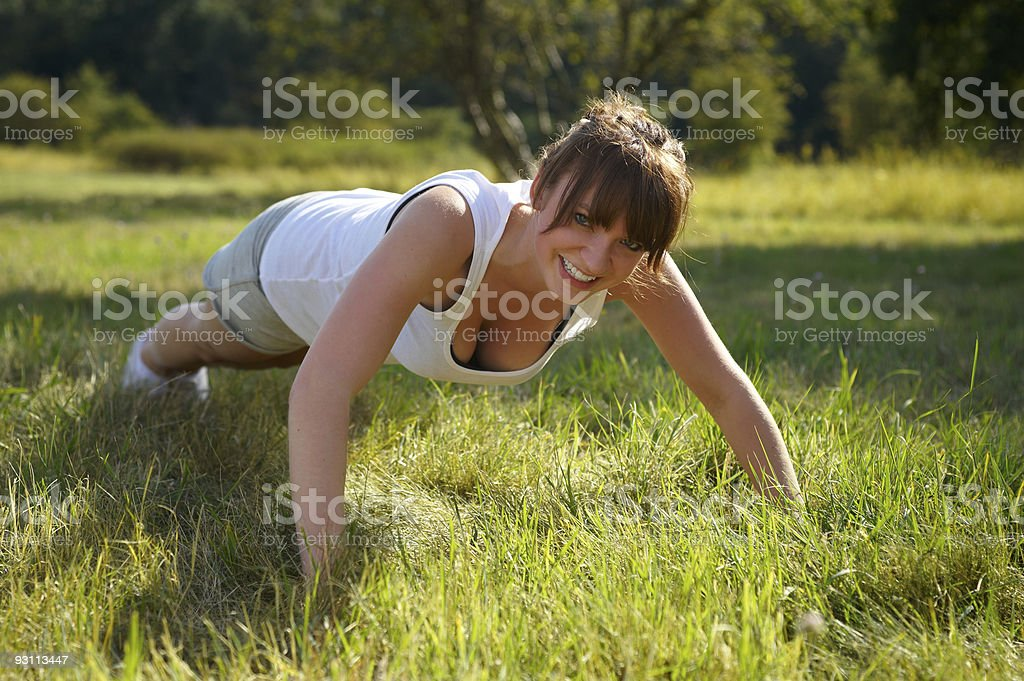 Fitness in the nature royalty-free stock photo
