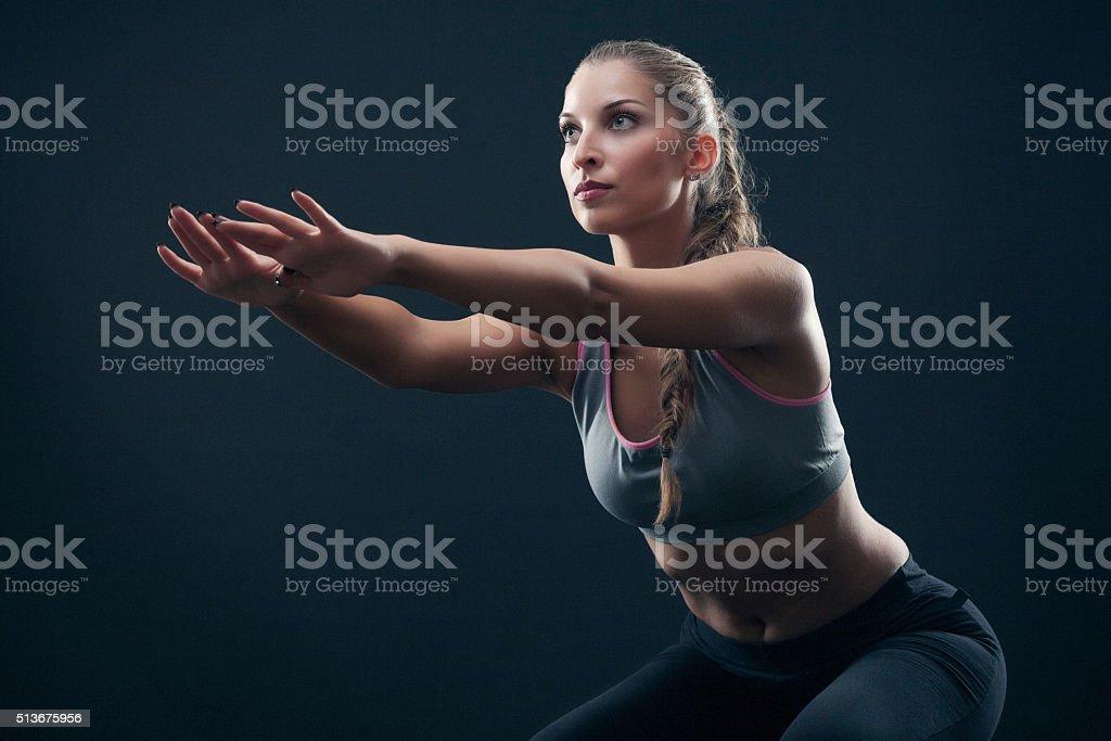 instructor de acondicionamiento físico - foto de stock