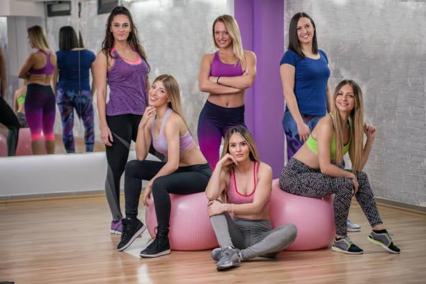 Fitness instructors stock photo
