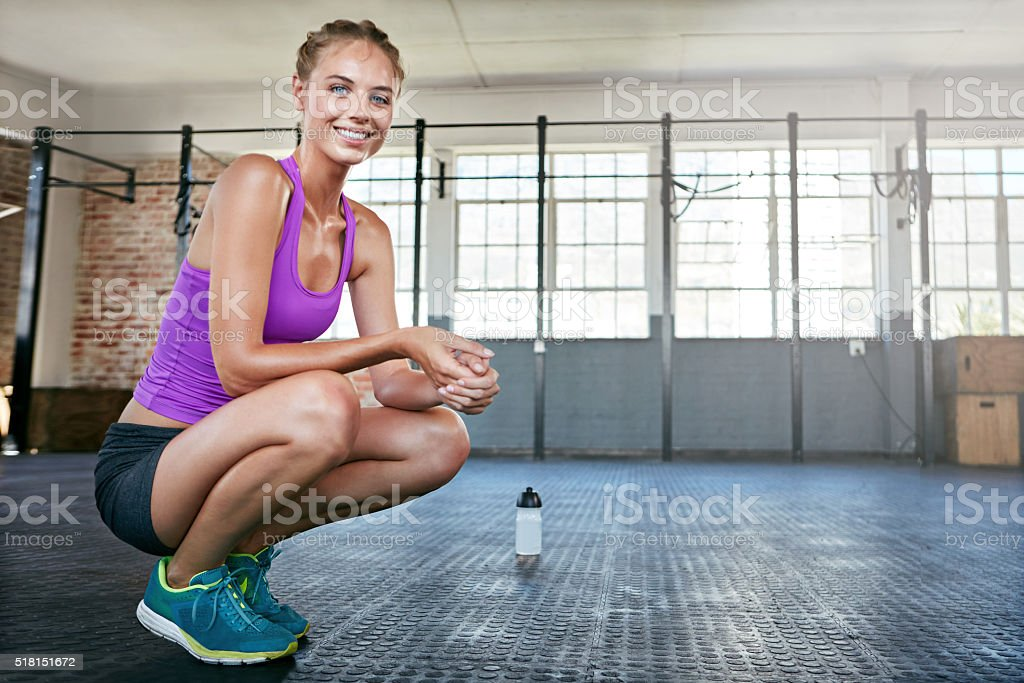 Fitness is about being better than you used to be stock photo