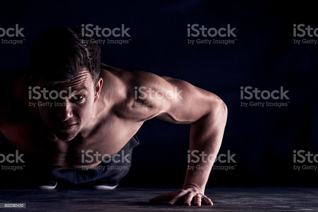 Fitness is his way of life! stock photo