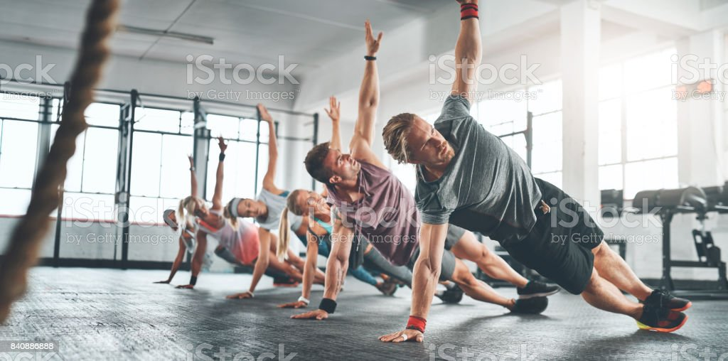 Fitness is something you attain and maintain stock photo