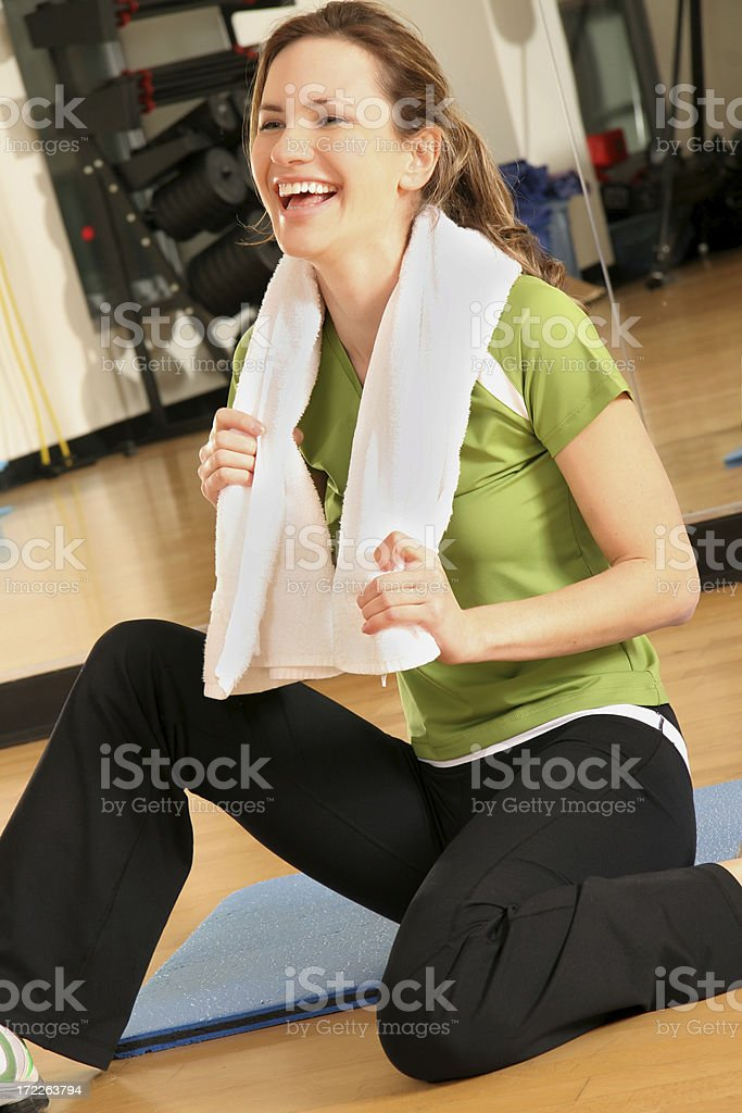 Fitness Laugh royalty-free stock photo