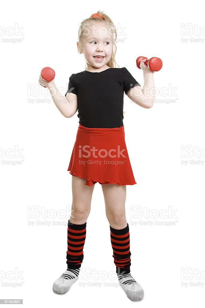 Fitness little girl. royalty-free stock photo