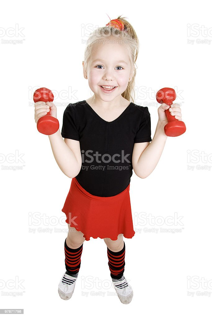 Fitness little girl. royalty-free stock photo
