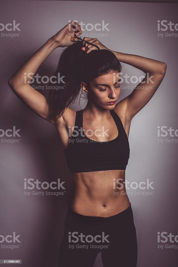 Fitness lover stock photo