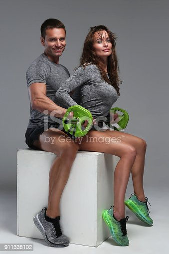 istock Fitness man and woman. 911338102