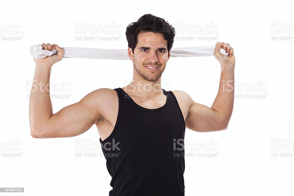 Hombre de gimnasio - Foto de stock de Actividad libre de derechos