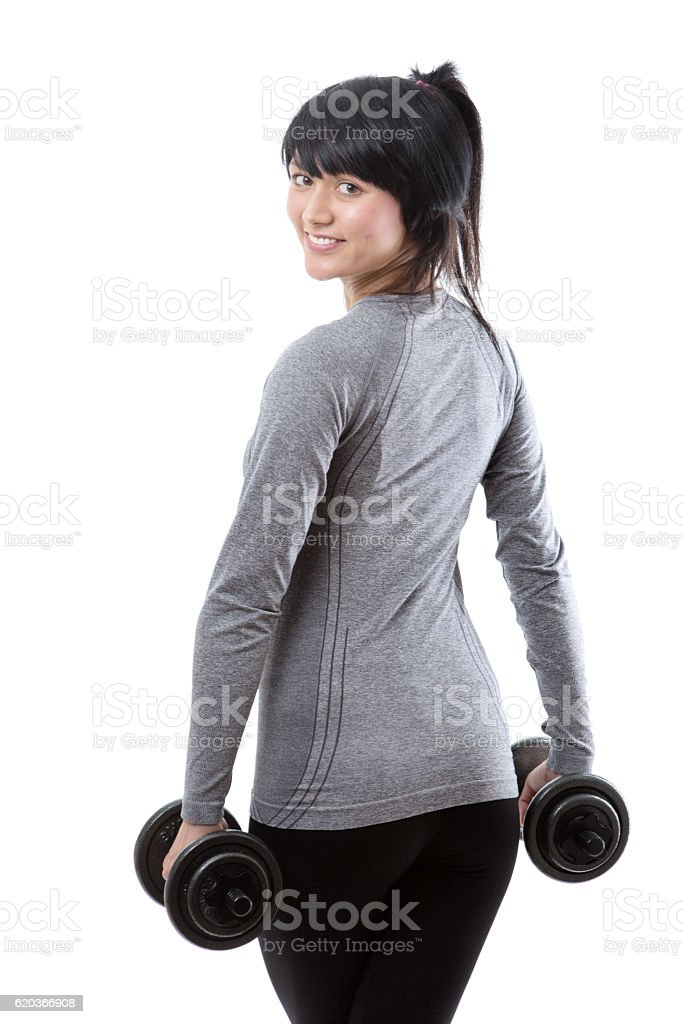 Fitness model from behind foto de stock royalty-free