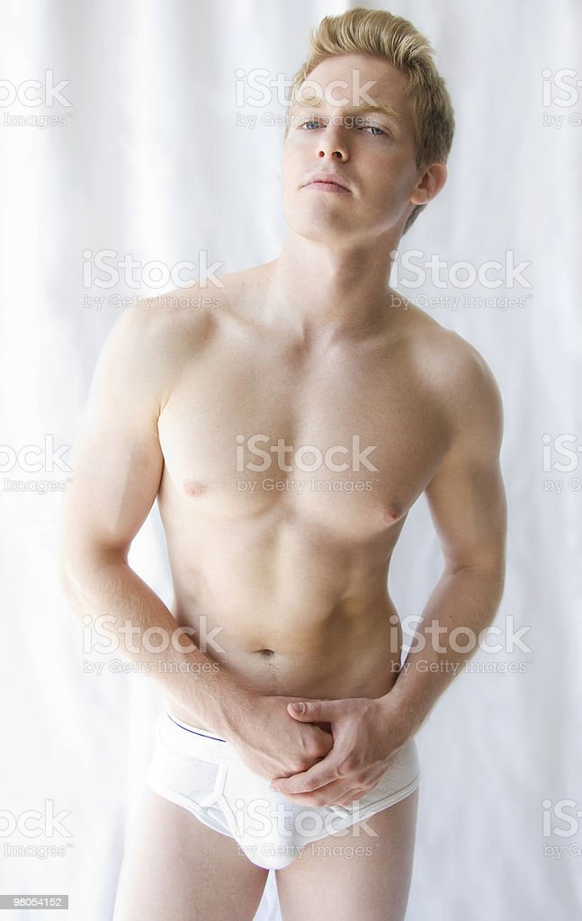 Fitness Model in Underwear royalty-free stock photo