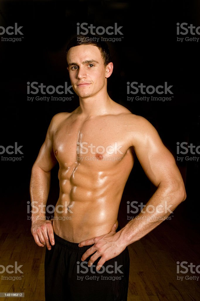 Fitness model. royalty-free stock photo
