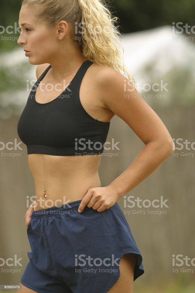 Fitness model posing 3 royalty-free stock photo