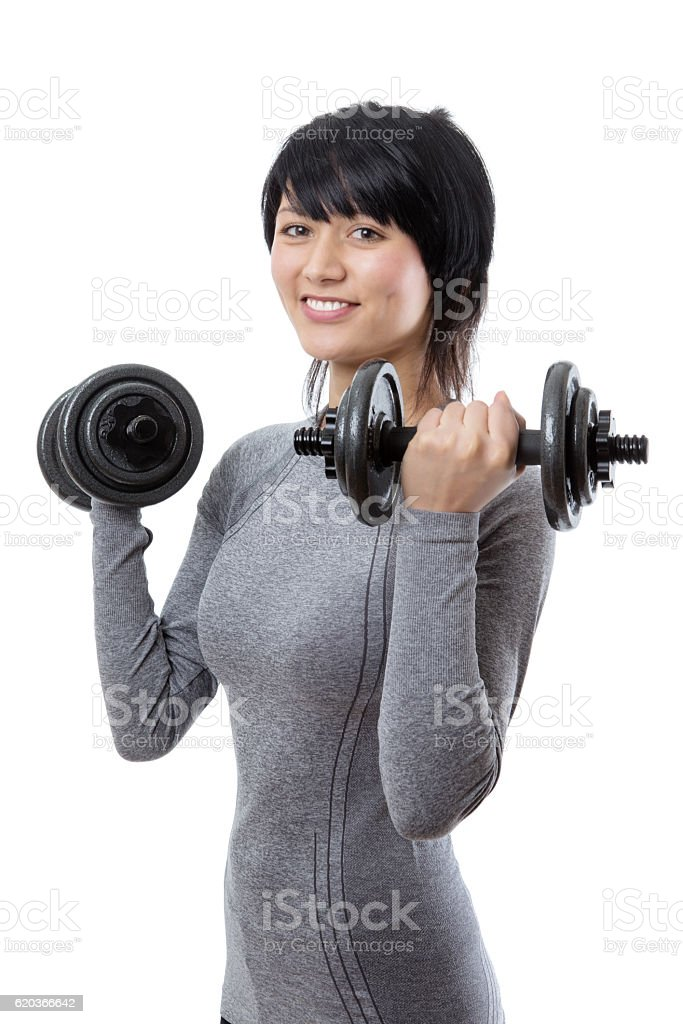 Fitness model weight lifting zbiór zdjęć royalty-free