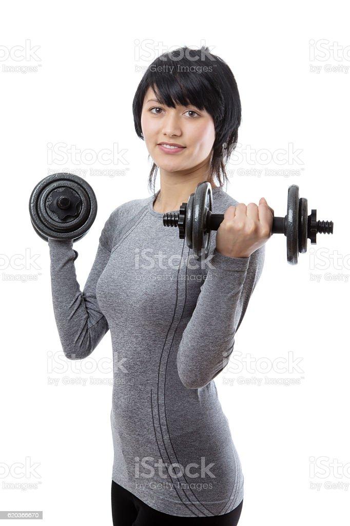 Fitness model weight lifting zbiór zdjęć royalty-free