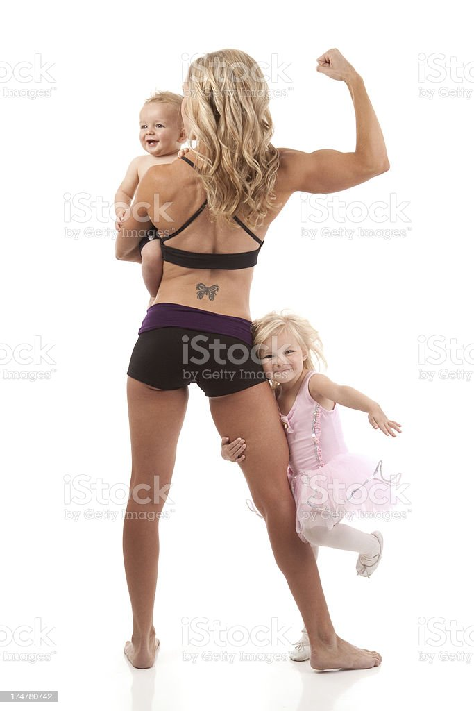 Fitness Mother and Child stock photo