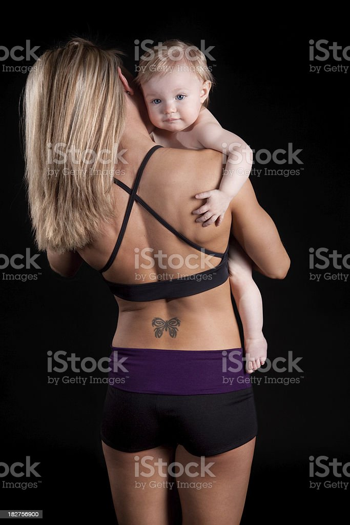 Fitness Mother and Child royalty-free stock photo