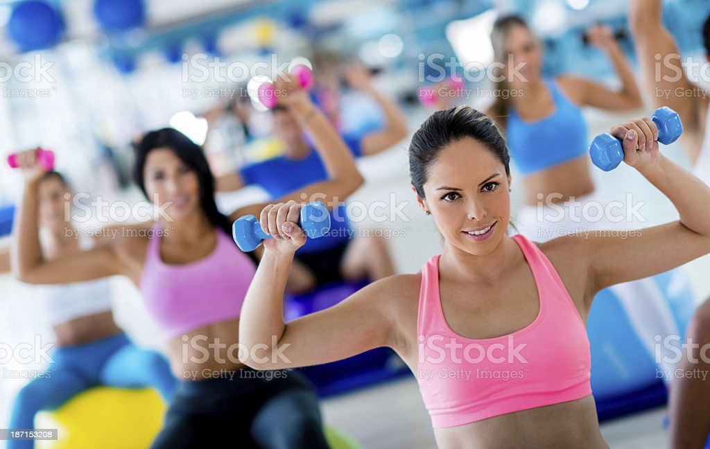 Fitness people training royalty-free stock photo