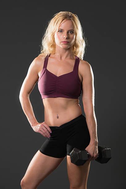 fitness - brustpiercing stock-fotos und bilder