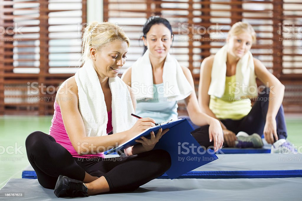 Fitness planning royalty-free stock photo