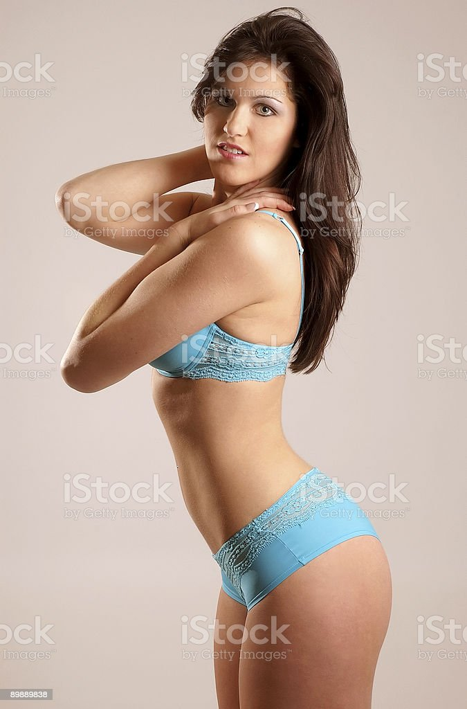 Fitness pose royalty-free stock photo