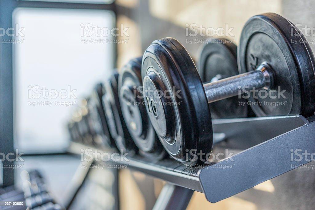 Fitness room stock photo