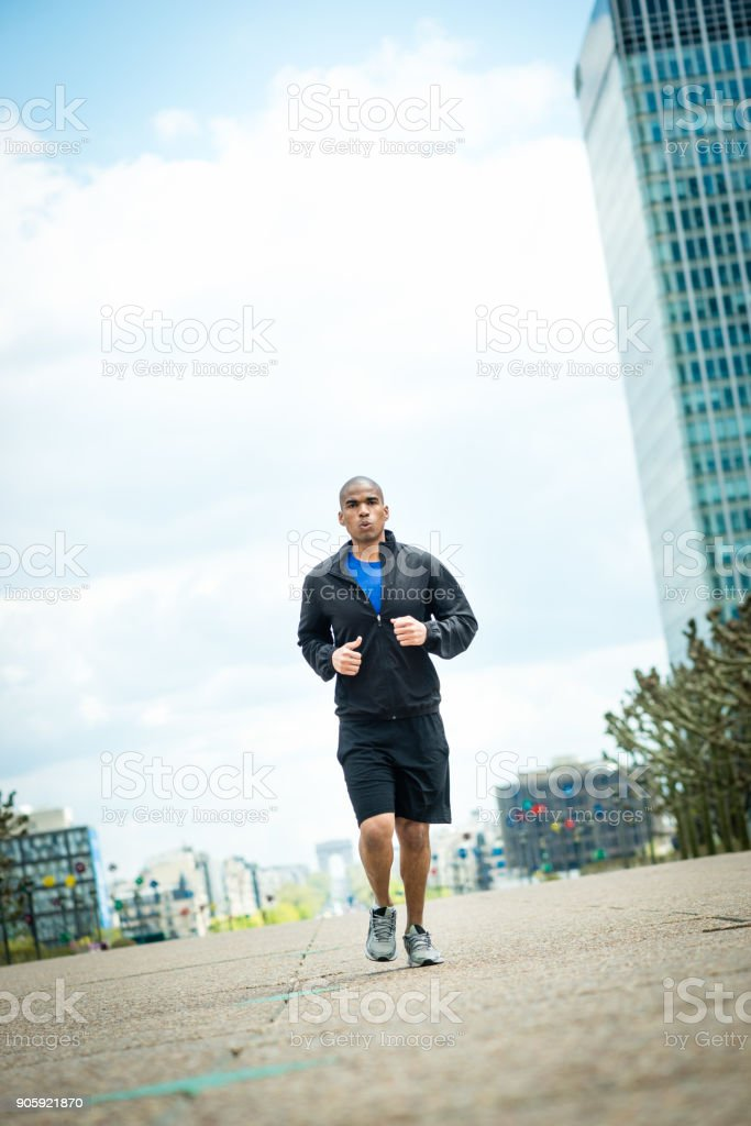 Fitness Running in Paris France royalty-free stock photo