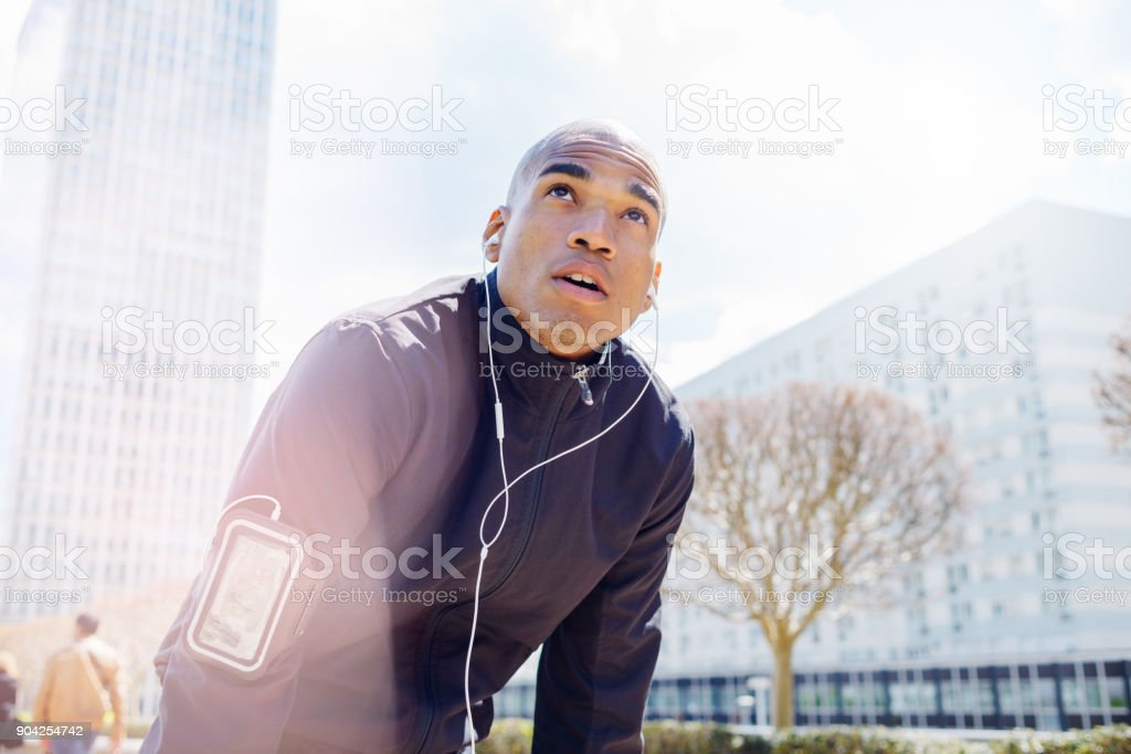 Fitness Running in the City stock photo