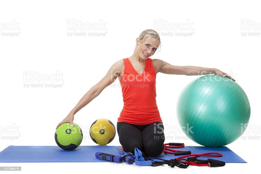 Fitness series: sport equipment. royalty-free stock photo