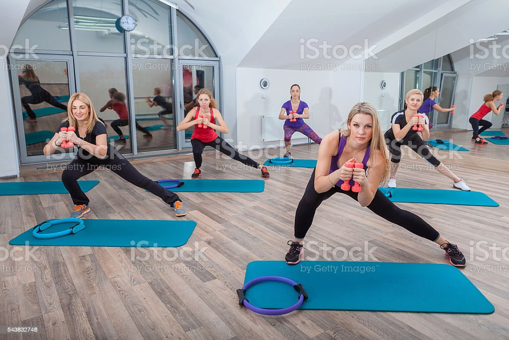 fitness, sport, training and lifestyle concept stock photo