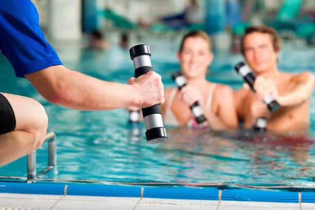 Fitness-Sport in acqua o spa - foto stock