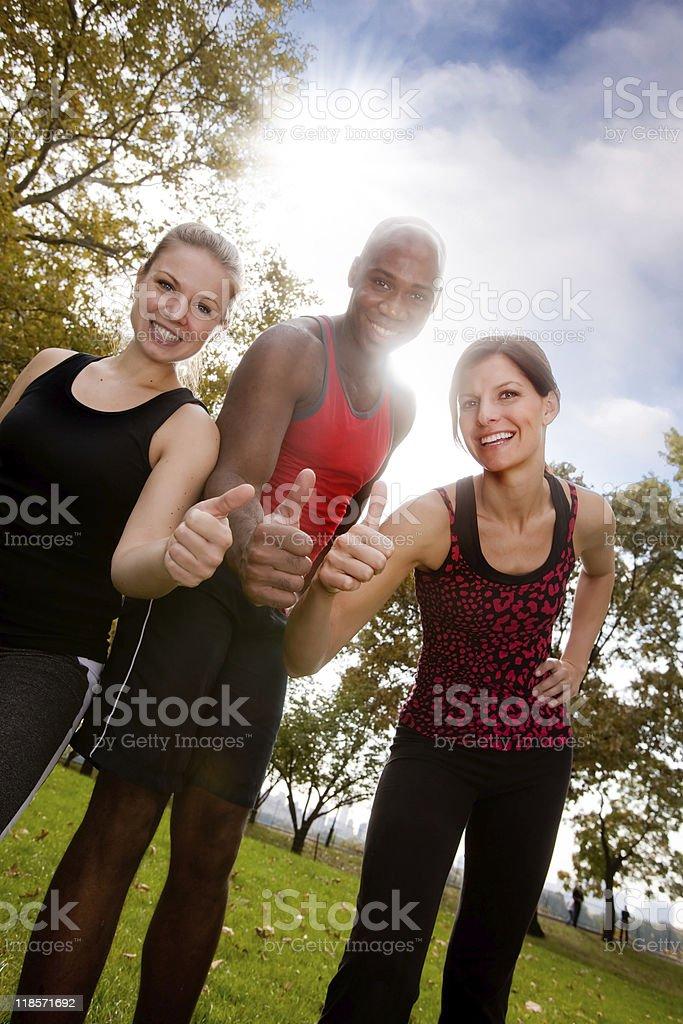Fitness Thumb Up royalty-free stock photo