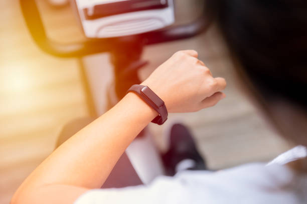 Fitness Tracker Smart Health Bracelet Fitness Tracker Smart Health Bracelet fitness tracker stock pictures, royalty-free photos & images