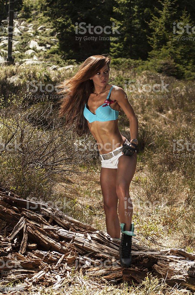 fitness trekking stock photo
