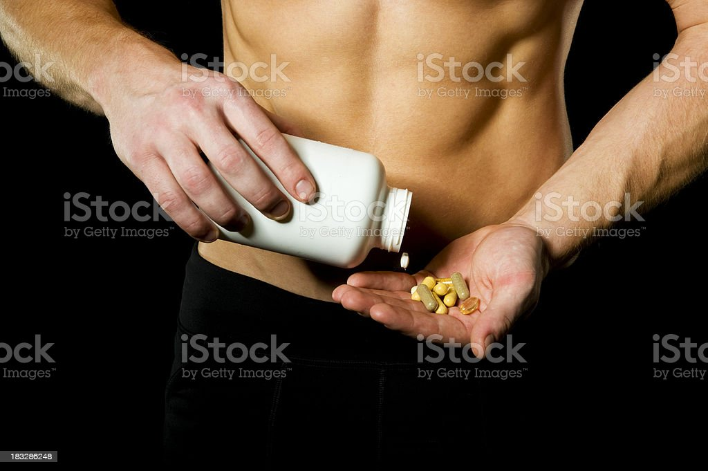 Fitness Vitamins royalty-free stock photo