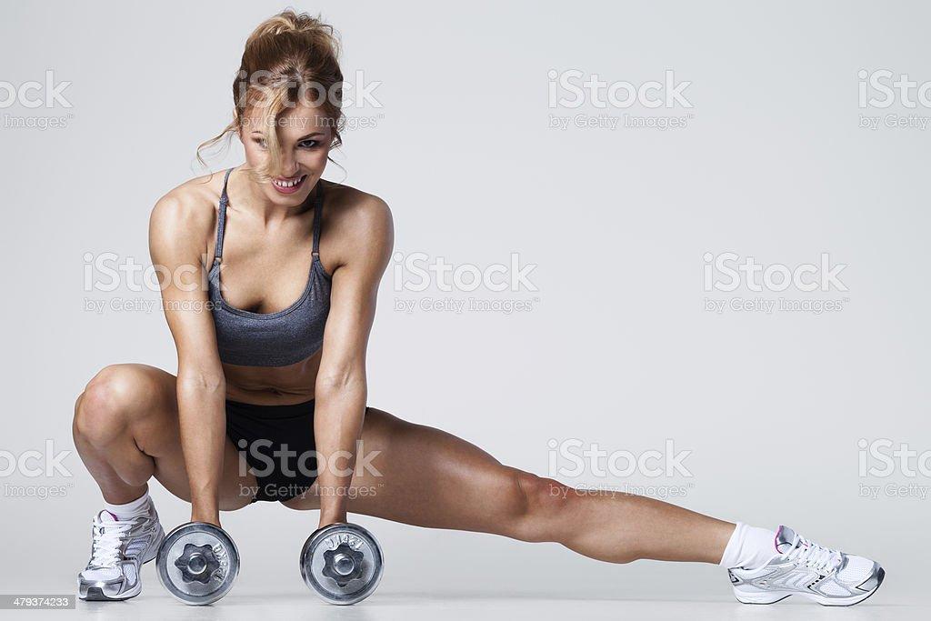Gimnasio con pesas - Foto de stock de Actividad libre de derechos