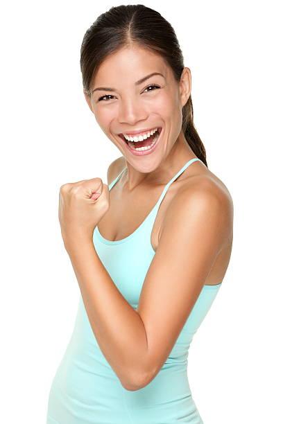 Fitness woman - fresh energy stock photo