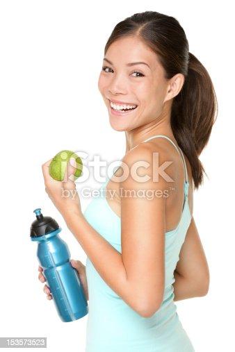 istock Fitness woman happy smiling 153573523