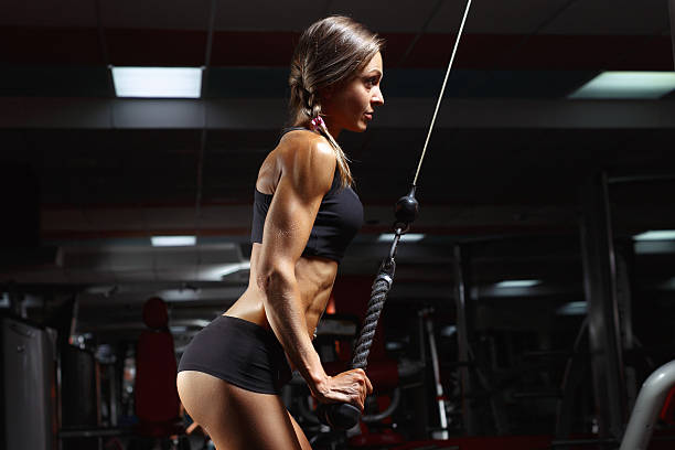Fitness woman in the gym. - Photo